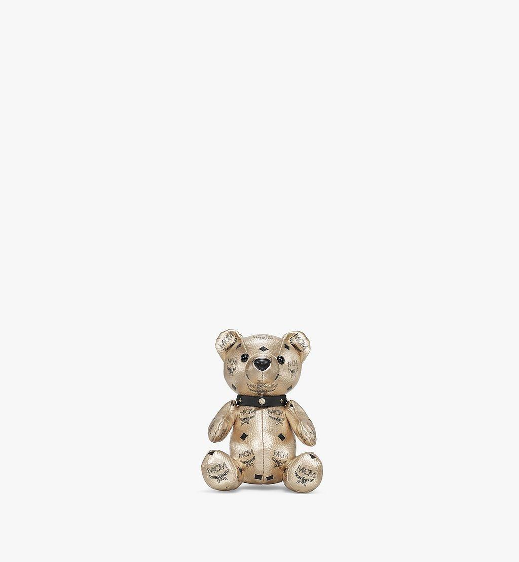 MCM Bear Doll in Visetos Gold MELBSVD08T1001 Alternate View 1