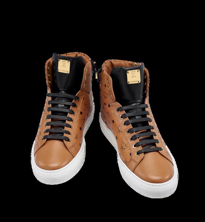 MCM Women's High Top Turnlock Sneakers in Visetos MES7AMM01CO040 AlternateView4