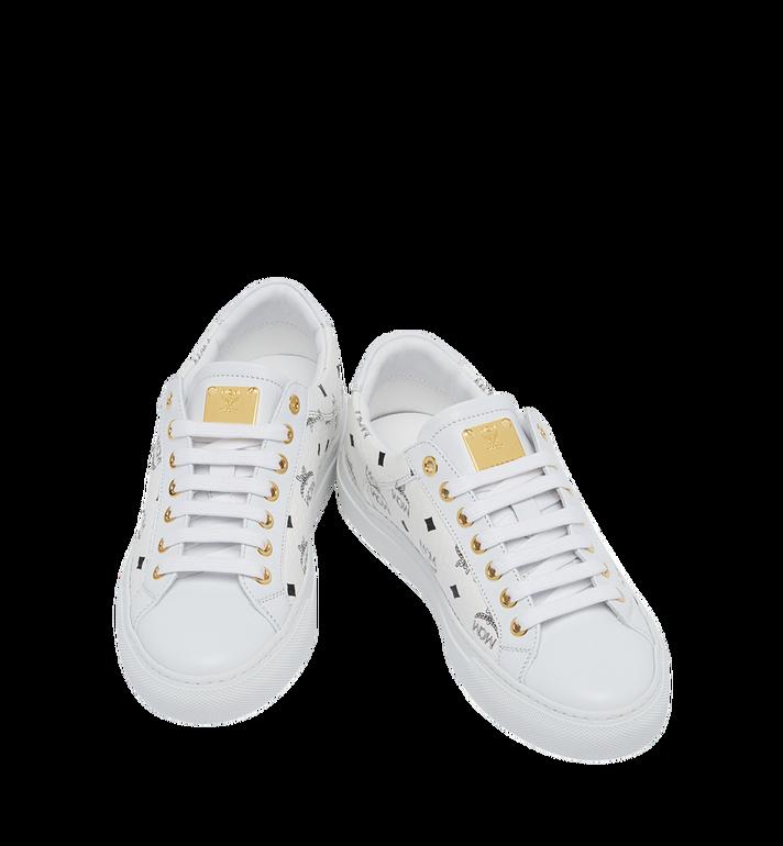 MCM Women's Low Top Classic Sneakers in Visetos MES7AMM03WT036 AlternateView4