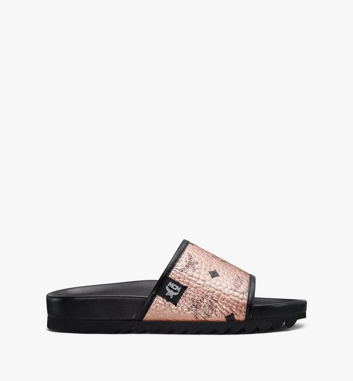 MCM Women's Visetos Slides MES8A2K55TC036 AlternateView2