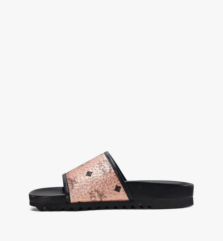 MCM Women's Visetos Slides MES8A2K55TC036 AlternateView4