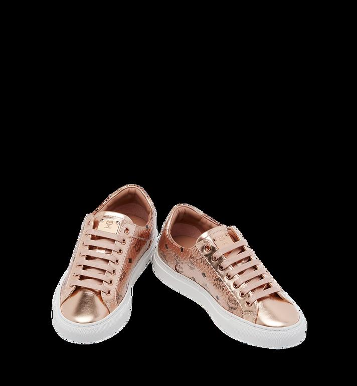 MCM Women's Low Top Sneakers in Visetos MES8AMM00TC036 AlternateView4