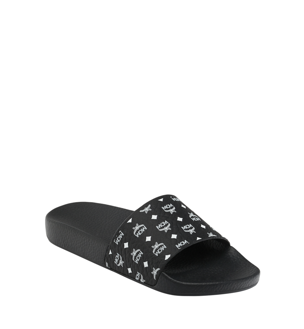 Women's Slides in Monogram Rubber 1
