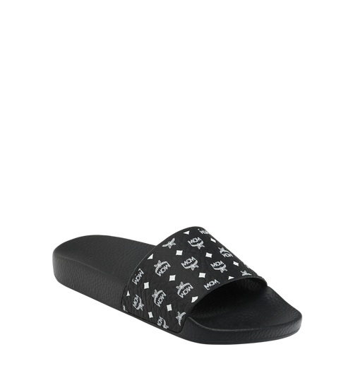 Women's Slides in Monogram Rubber
