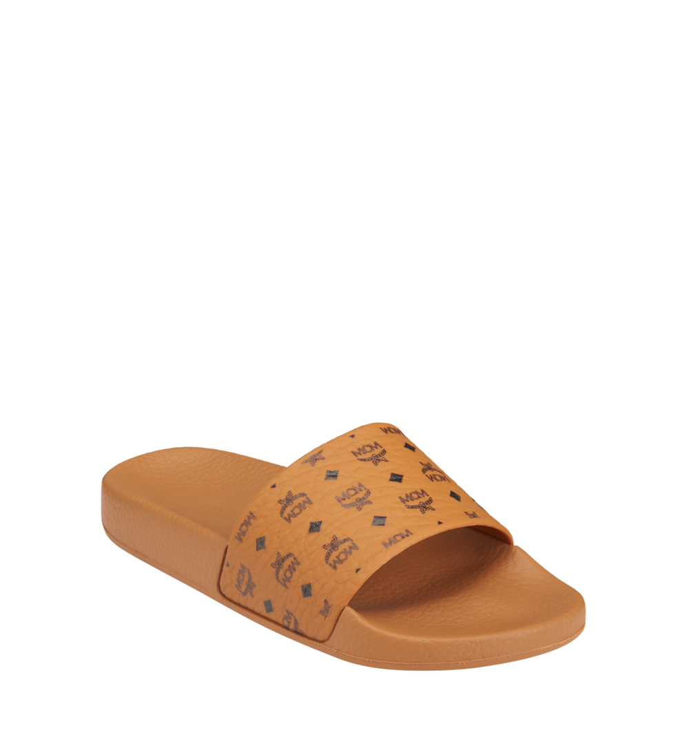 Women's Monogram Print Rubber Slides 1