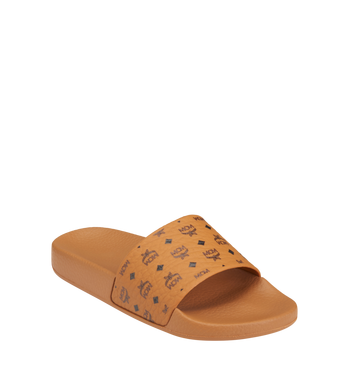 MCM Women's Monogram Print Rubber Slides AlternateView