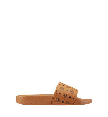 MCM Women's Monogram Print Rubber Slides AlternateView3