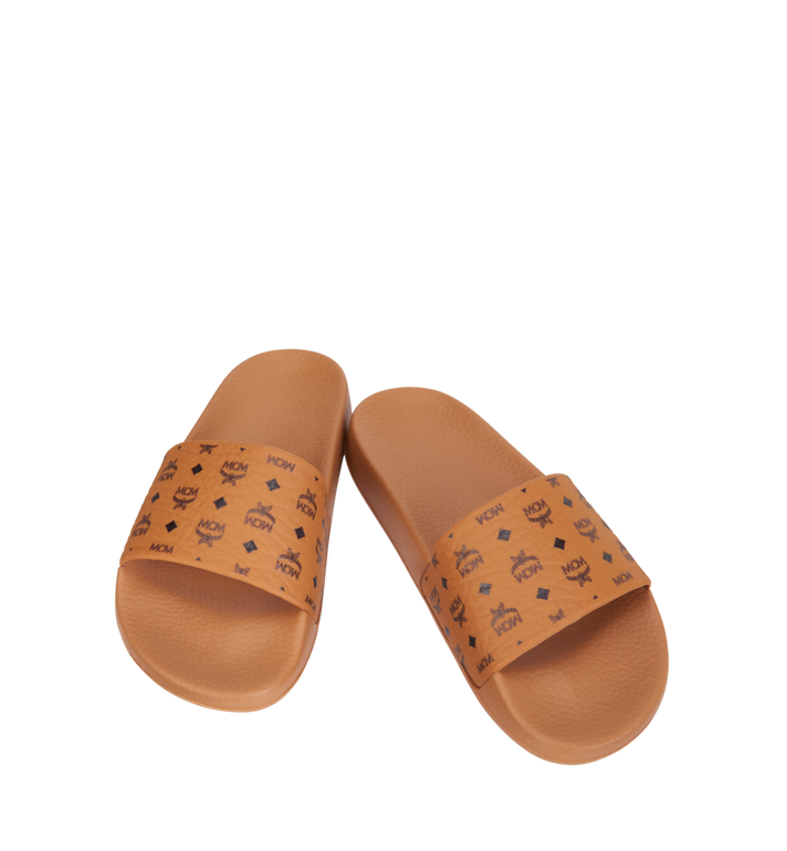 MCM Women's Monogram Print Rubber Slides AlternateView4