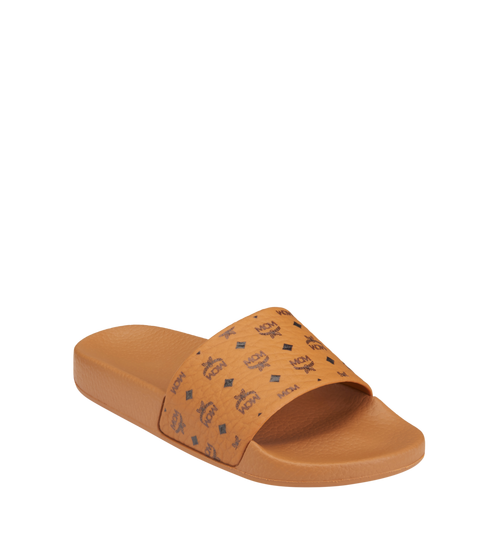 Women's Monogram Print Rubber Slides