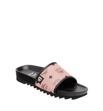 MCM Women's Slides in Visetos Alternate View