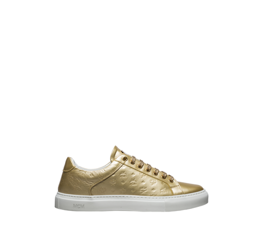 Women's Low Top Classic Sneakers in Monogram Leather