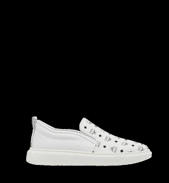 MCM Women's Slip On Diamond Sole Sneakers in Visetos MES8SMM22WT037 AlternateView3