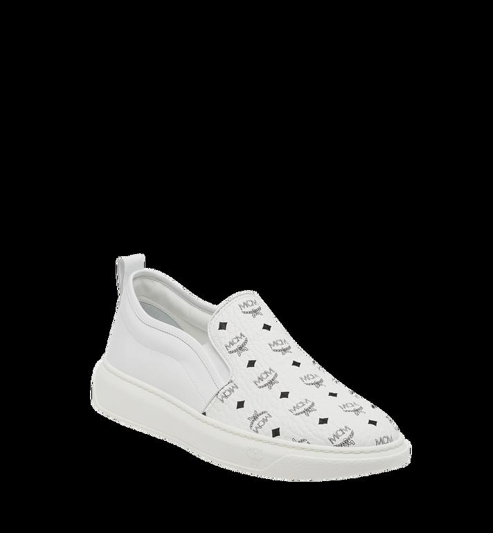 MCM Women's Slip On Diamond Sole Sneakers in Visetos MES8SMM22WT039 AlternateView