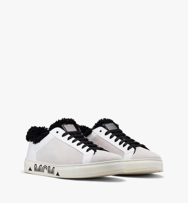 MCM Milano Low-Top Shearling Sneakers Alternate View