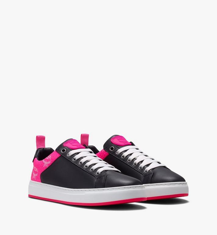 MCM Women's Flo Low-Top Sneakers in Neon Visetos Alternate View