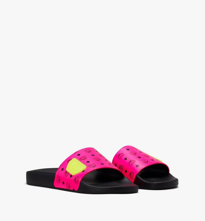 MCM Women's Flo Monogram Rubber Slides Alternate View 1