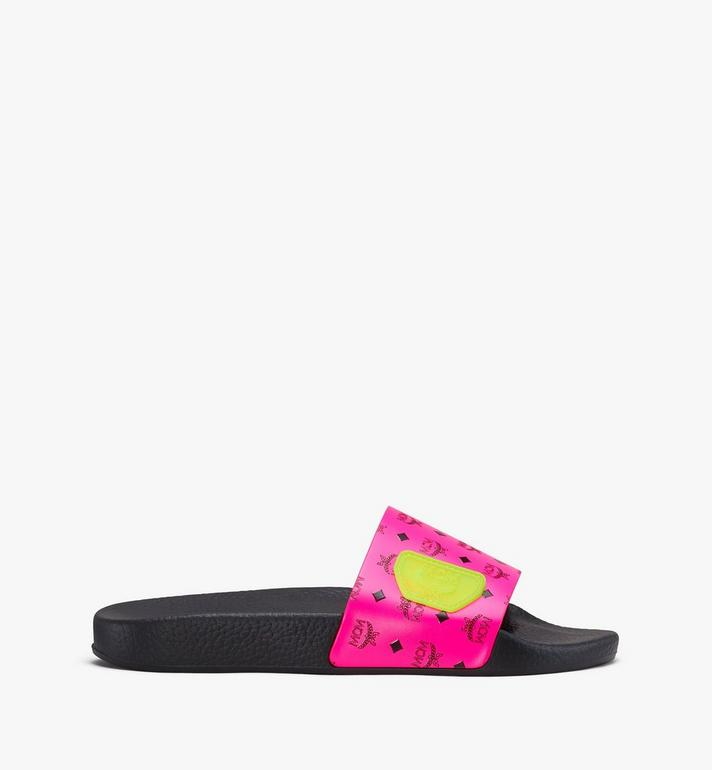 MCM Women's Flo Monogram Rubber Slides Alternate View 2