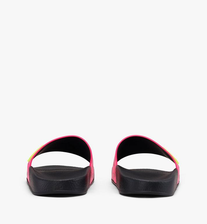 MCM Women's Flo Monogram Rubber Slides Alternate View 3
