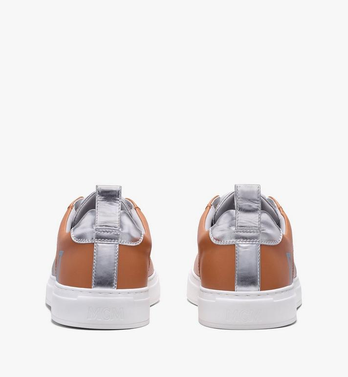 MCM Women's Low-Top Logo Sneakers in Rubberized Leather  MES9AMM16CS036 Alternate View 3