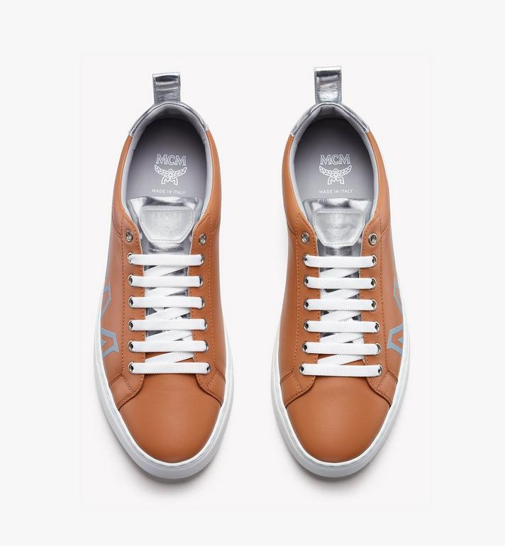 MCM Women's Low-Top Logo Sneakers in Rubberized Leather  MES9AMM16CS036 Alternate View 5