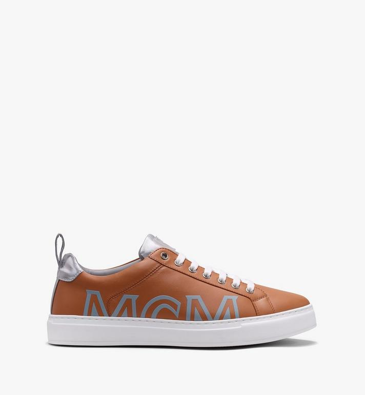 MCM Women's Low-Top Logo Sneakers in Rubberized Leather  MES9AMM16CS037 Alternate View 2
