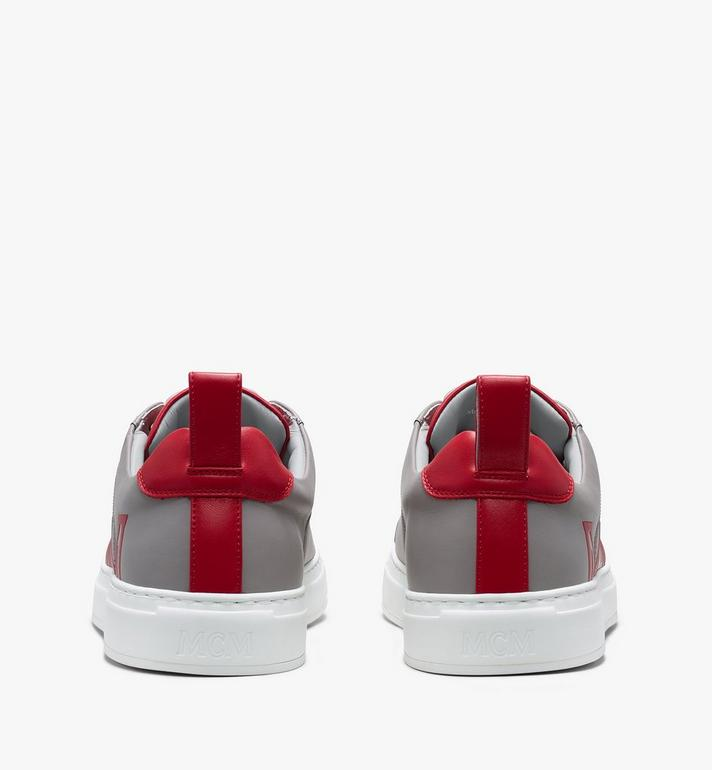 MCM Women's Low-Top Logo Sneakers in Rubberized Leather  MES9AMM16EG037 Alternate View 3