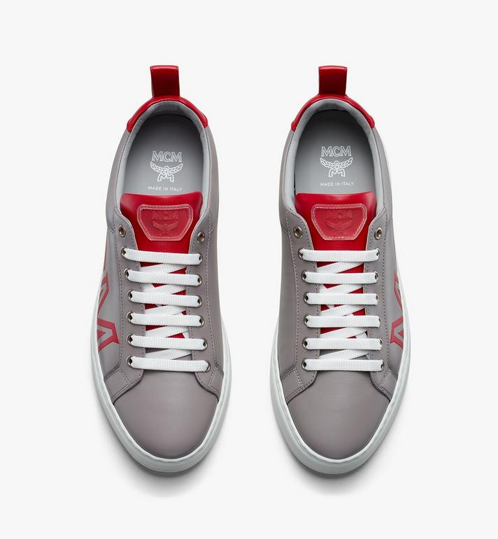 MCM Women's Low-Top Logo Sneakers in Rubberized Leather  MES9AMM16EG037 Alternate View 5