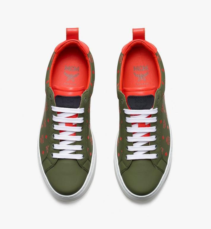 MCM Women's High-Top Classic Zip Sneaker in Visetos  MES9AMM60G8040 Alternate View 5
