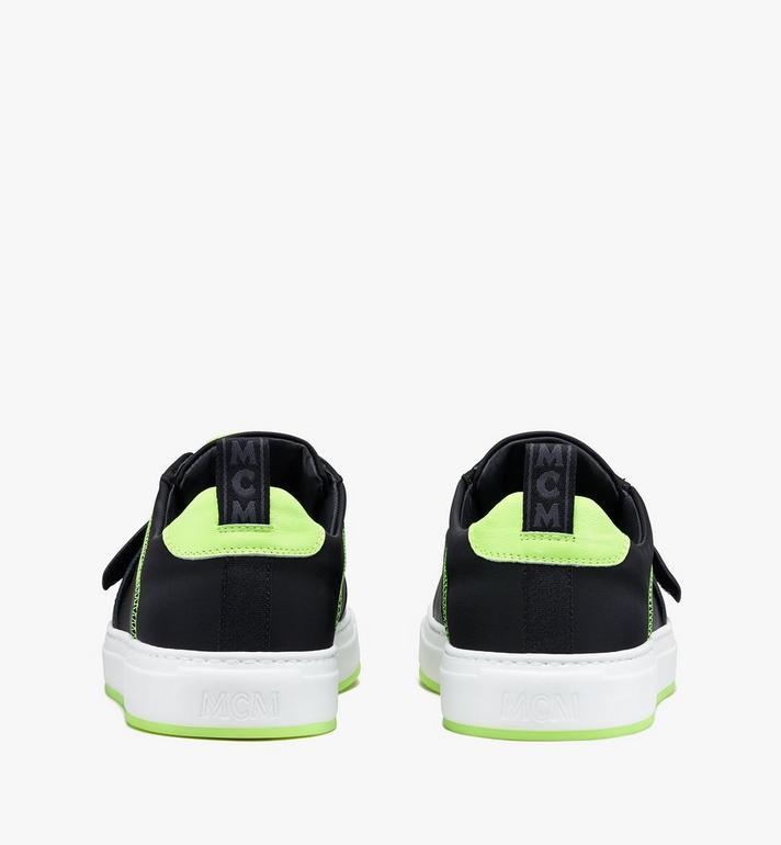 MCM Women's Low-Top Velcro Sneaker in Nylon  MES9AMM68BK037 Alternate View 3
