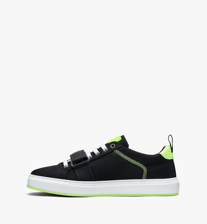 MCM Women's Low-Top Velcro Sneaker in Nylon  MES9AMM68BK037 Alternate View 4