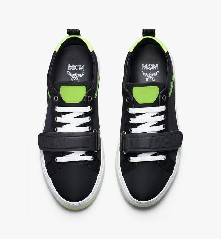 MCM Women's Low-Top Velcro Sneaker in Nylon  MES9AMM68BK037 Alternate View 5