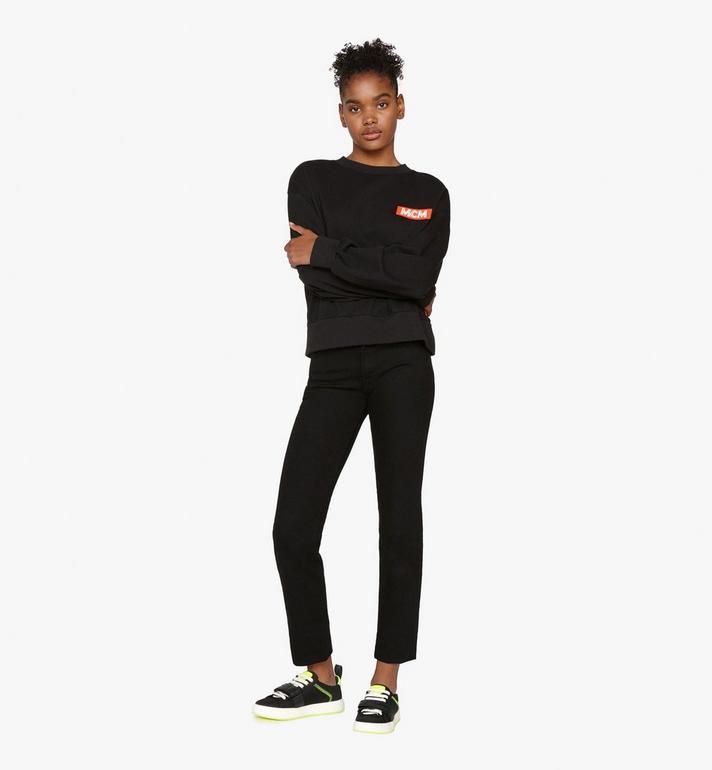 MCM Women's Low-Top Velcro Sneaker in Nylon  MES9AMM68BK037 Alternate View 6
