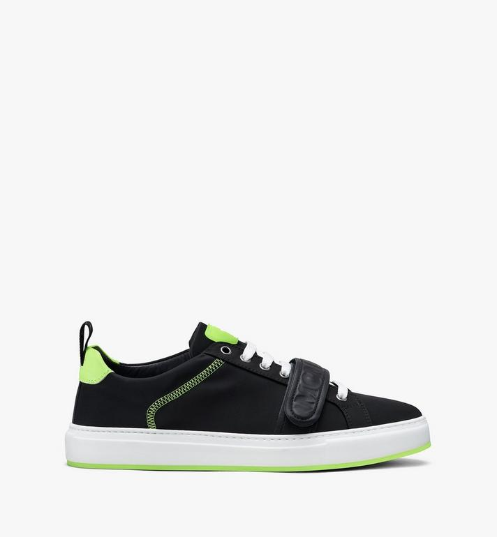 MCM Women's Low-Top Velcro Sneaker in Nylon Black MES9AMM68BK039 Alternate View 2