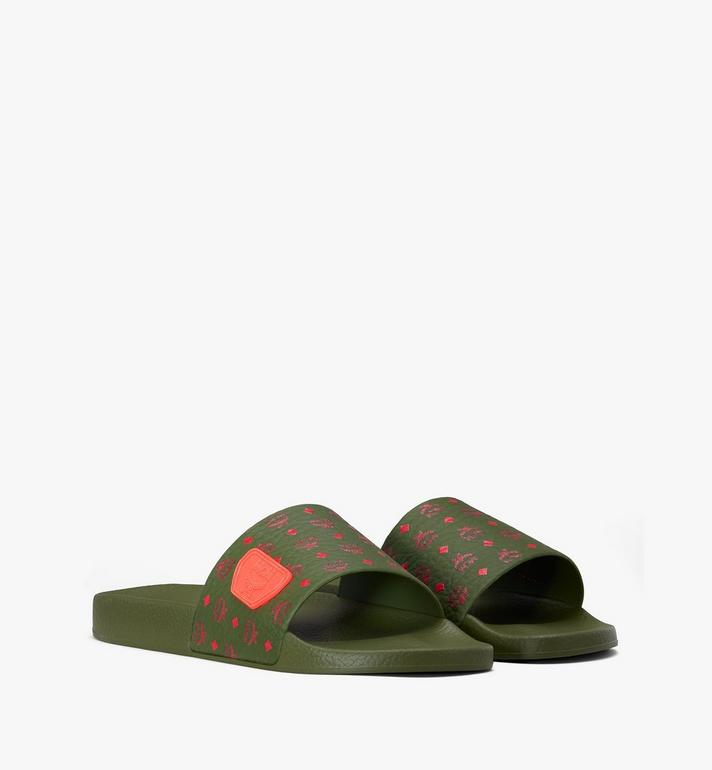MCM Women's Monogram Rubber Slides Alternate View 1