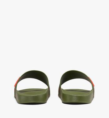 MCM Women's Monogram Rubber Slides Alternate View 3