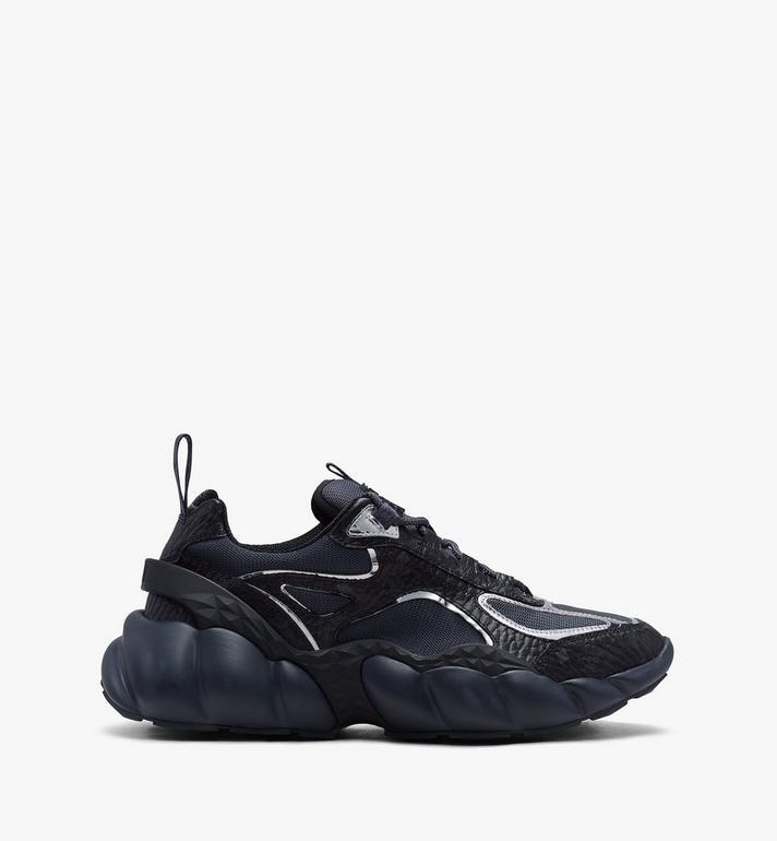 MCM Women's Low-Top Himmel Sneaker in Visetos Black MES9ANX05BK038 Alternate View 2