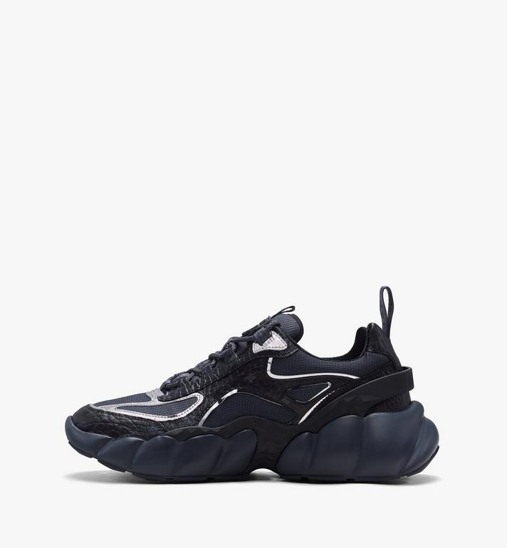 MCM Women's Low-Top Himmel Sneaker in Visetos Black MES9ANX05BK038 Alternate View 4