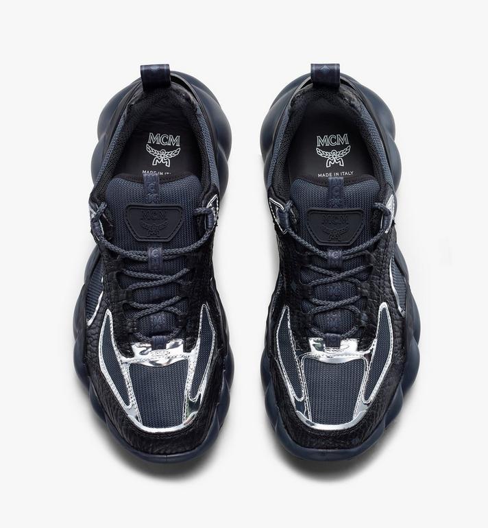 MCM Women's Low-Top Himmel Sneaker in Visetos Black MES9ANX05BK038 Alternate View 5