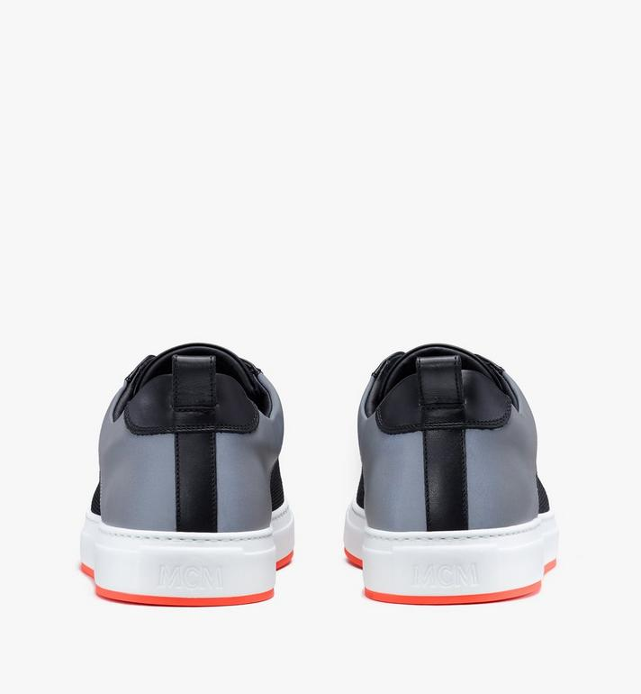 MCM Women's Resnick Low-Top Sneaker in Reflective Mesh Black MES9ARA71BK037 Alternate View 3