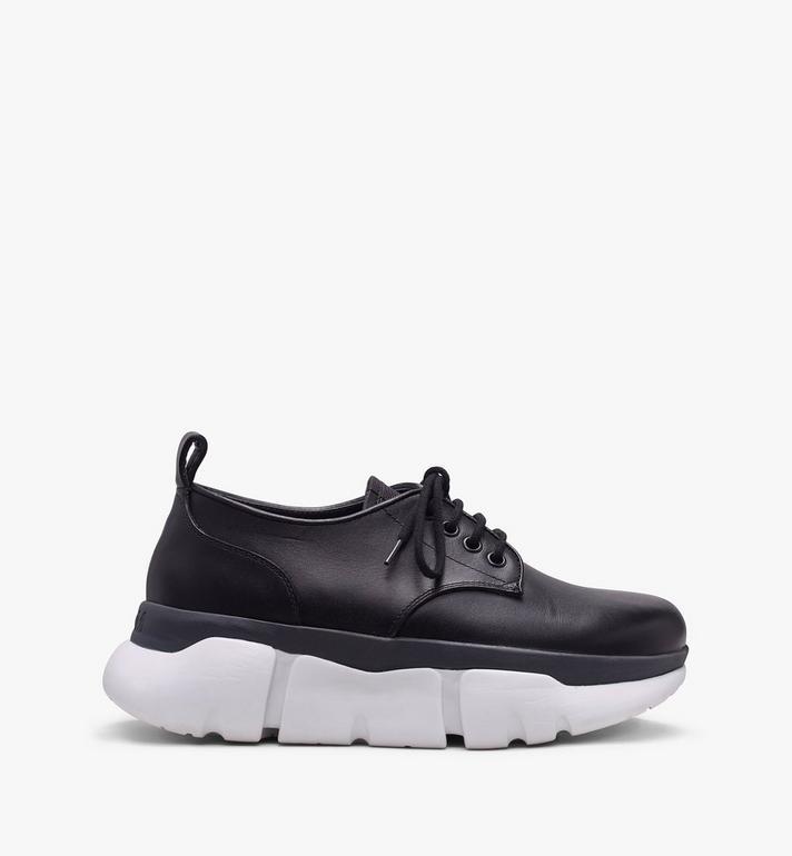 MCM Women's Resnick Dress Sneaker in Calfskin Leather Black MES9ARA72BK039 Alternate View 2