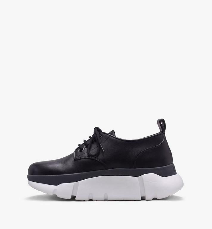 MCM Women's Resnick Dress Sneaker in Calfskin Leather Black MES9ARA72BK039 Alternate View 4