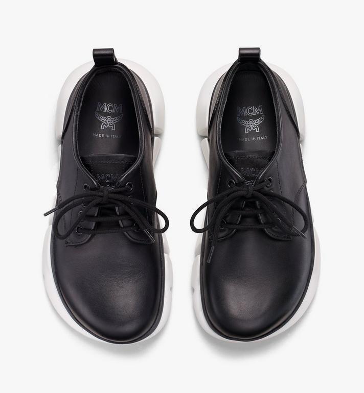 MCM Women's Resnick Dress Sneaker in Calfskin Leather Black MES9ARA72BK039 Alternate View 5