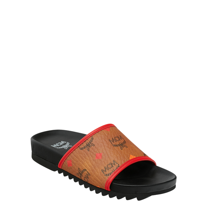 MCM Women's Slides in Skyoptic Visetos Alternate View