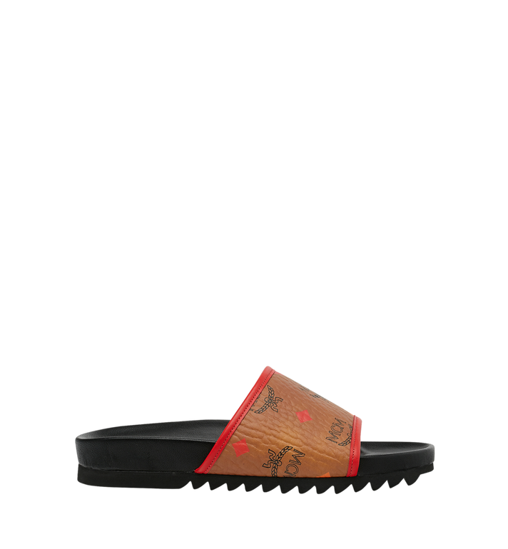 MCM Women's Slides in Skyoptic Visetos Alternate View 2