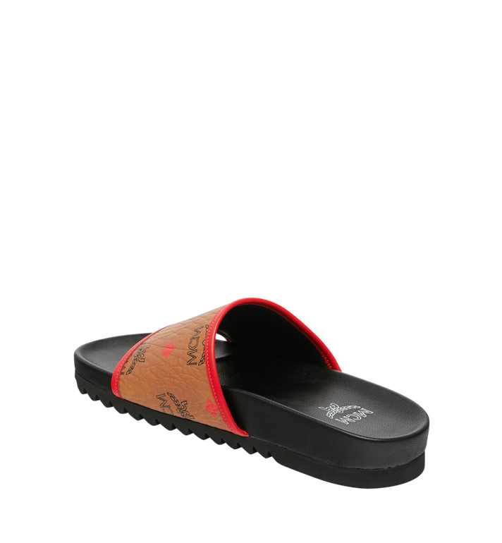 MCM Women's Slides in Skyoptic Visetos Alternate View 3
