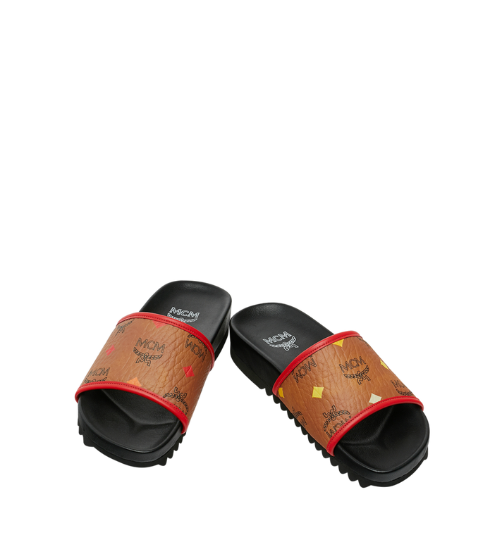MCM Women's Slides in Skyoptic Visetos Alternate View 4
