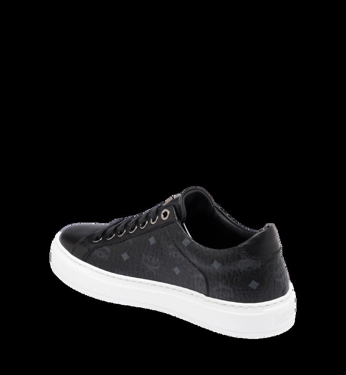 MCM Women's Classic Low Top Sneakers in Visetos Black MES9SMM03BK035 Alternate View 3