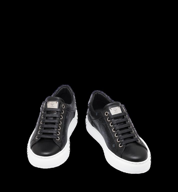 MCM Women's Classic Low Top Sneakers in Visetos Black MES9SMM03BK035 Alternate View 4