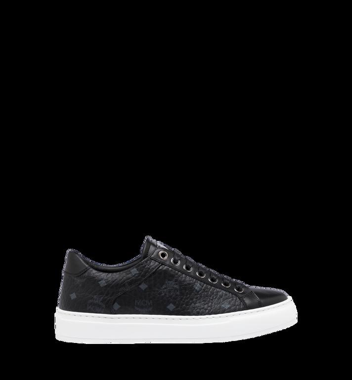 MCM Women's Classic Low Top Sneakers in Visetos Black MES9SMM03BK040 Alternate View 2