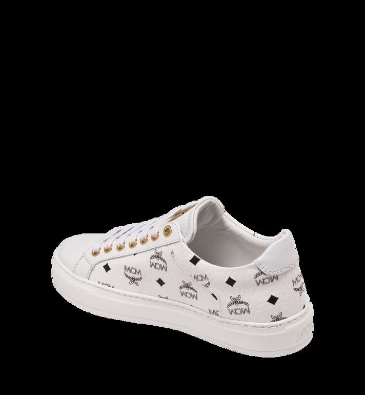 MCM Women's Low-Top Sneakers in Visetos White MES9SMM03WT038 Alternate View 3
